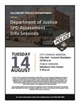 Department of Justice SPD Assessment Info Sessions