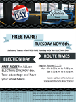 Salisbury Transit offering free rides on Election Day, November 6