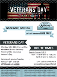 Salisbury Transit Honoring Veterans by offering Free Rides.