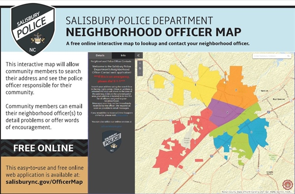 Salisbury Police Department launches new, interactive neighborhood map