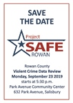 Project Safe Rowan Crime Review set for Monday, Sept. 23