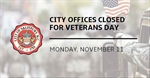 City of Salisbury provides its 2019 Veterans Day operation schedule