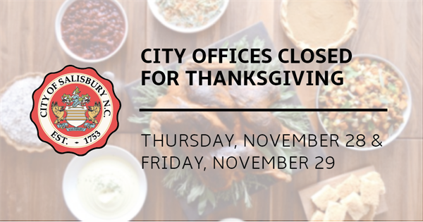 City of Salisbury provides operation schedule for the 2019 Thanksgiving Holiday