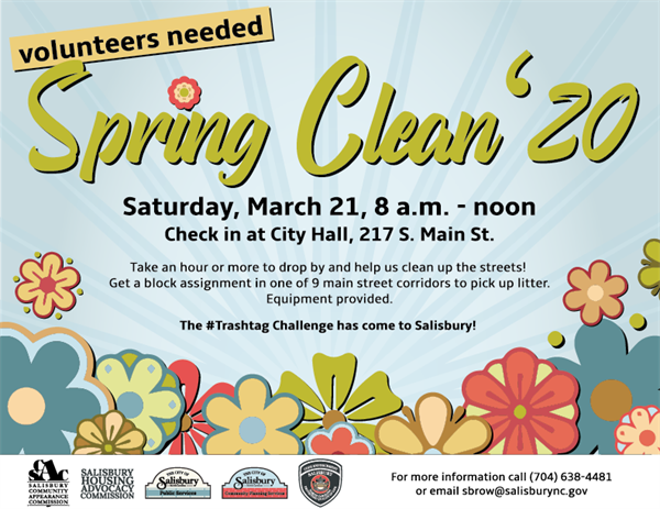 Spring Clean '20 still on for Saturday, March 21