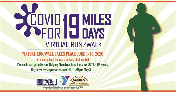 Salisbury Parks and Rec. and Rowan-Cabarrus YMCA to host virtual run, walk to benefit COVID-19 assistance