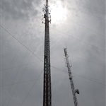 Radio Tower Cloudy Sky