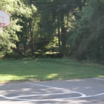 Foster Hill Park front  view basketball court