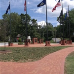 City Park  Veteran Memorial 2 flag walkway
