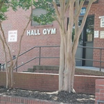 Left front side view of Hall Gym 85