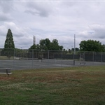 Front left viewB tennis court Salisbury Civic Center