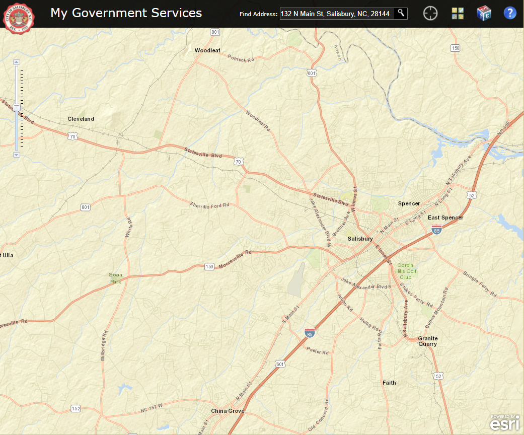Screenshot of My Government Services application