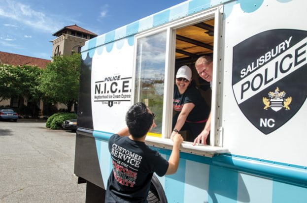 The Salisbury Police Department's ice cream truck
