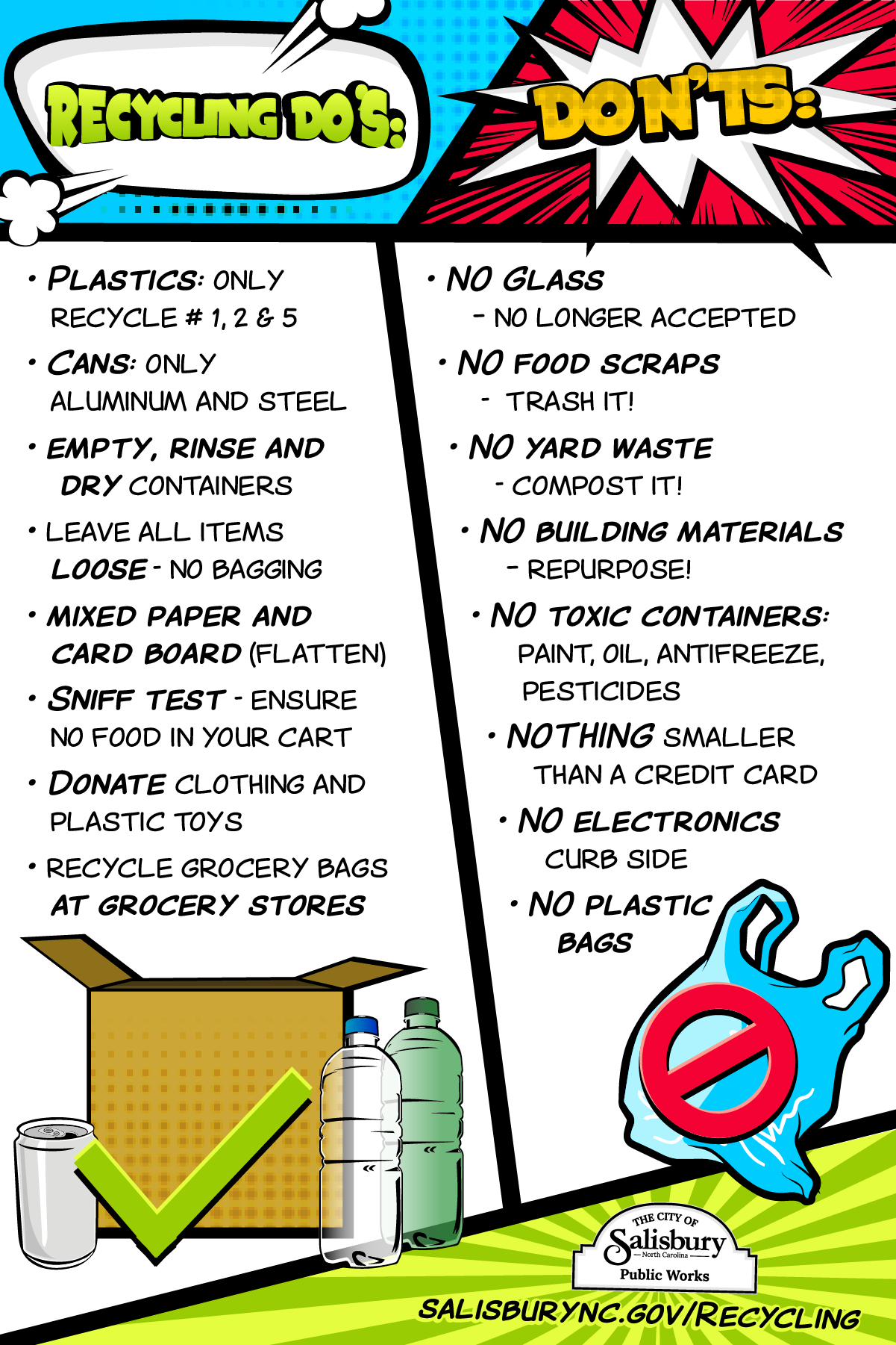 List of Recycling Do's and Don'ts in English