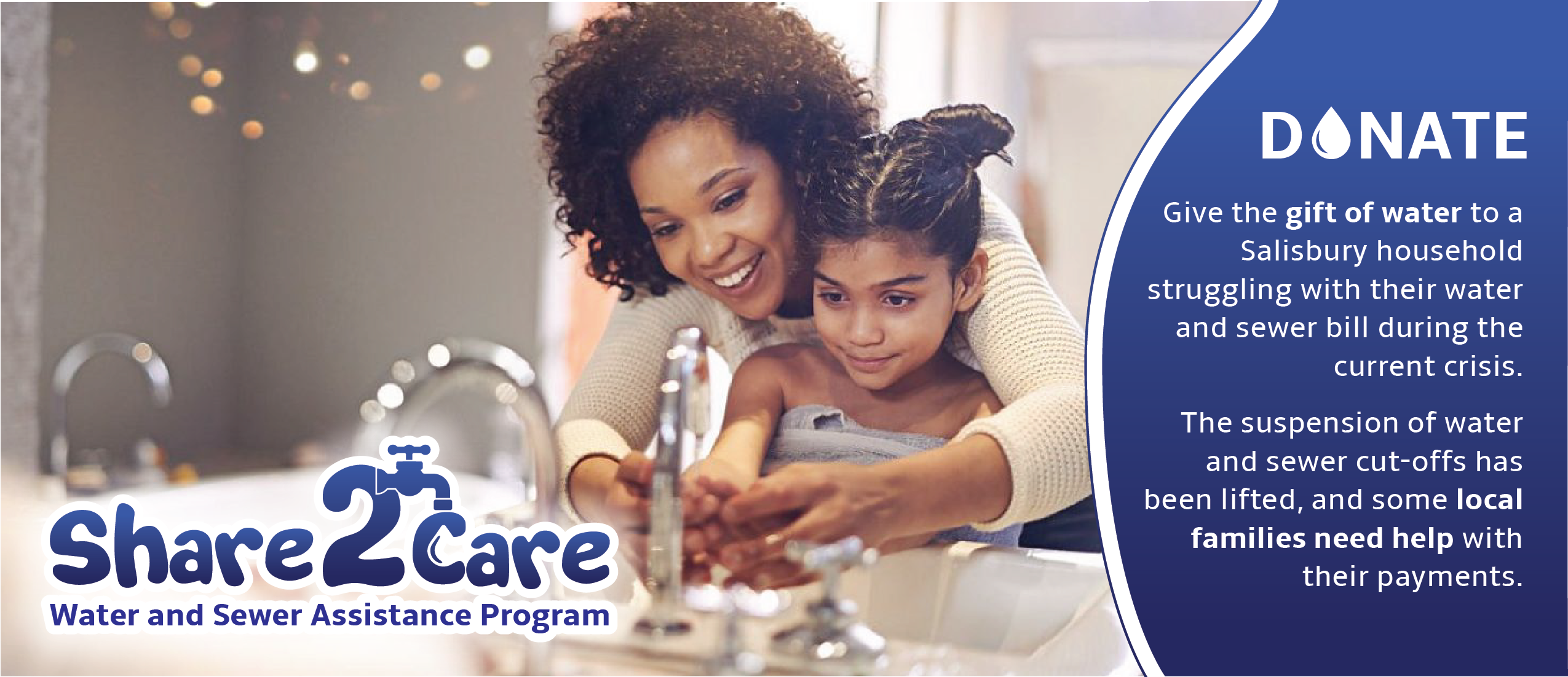 Share2Care program allows residents to donate money towards water and sewer funds to benefit local families in need